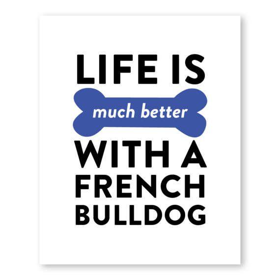 Impresión de Bulldog Francés perro Print Animal Print