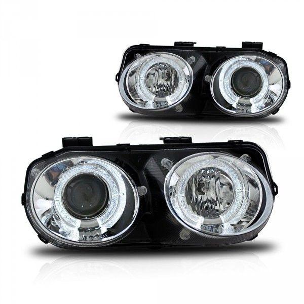 WinJet WJ10-0217-01 | 2000 Acura Integra Chrome/Clear Projector Headlights for Coupe/Sedan/Hatchback/Wagon