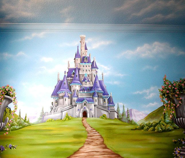 17 best images about playroom on pinterest murals for Fairy castle mural