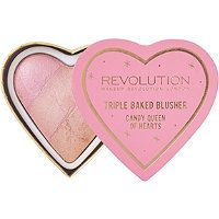 Makeup Revolution - Online Only Blushing Hearts Blusher in Candy Queen of Hearts #ultabeauty