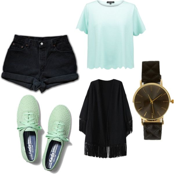 dreaming of summer by eline-storli on Polyvore featuring New Look, Levi's and Keds