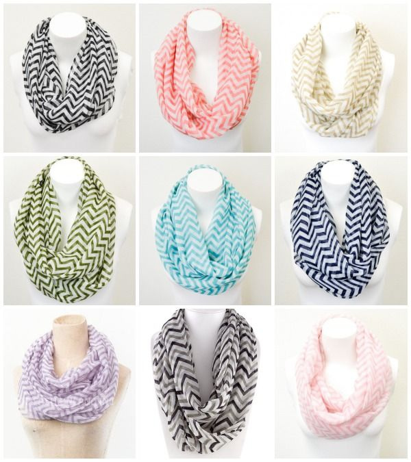 This VERY popular sale is back! From now through November 3, 2013, you can get a beautiful Chevron Infinity Scarf for $7.95, including shipping when you use the coupon code NOVEMBER1. These scarves are regularly priced at $26.