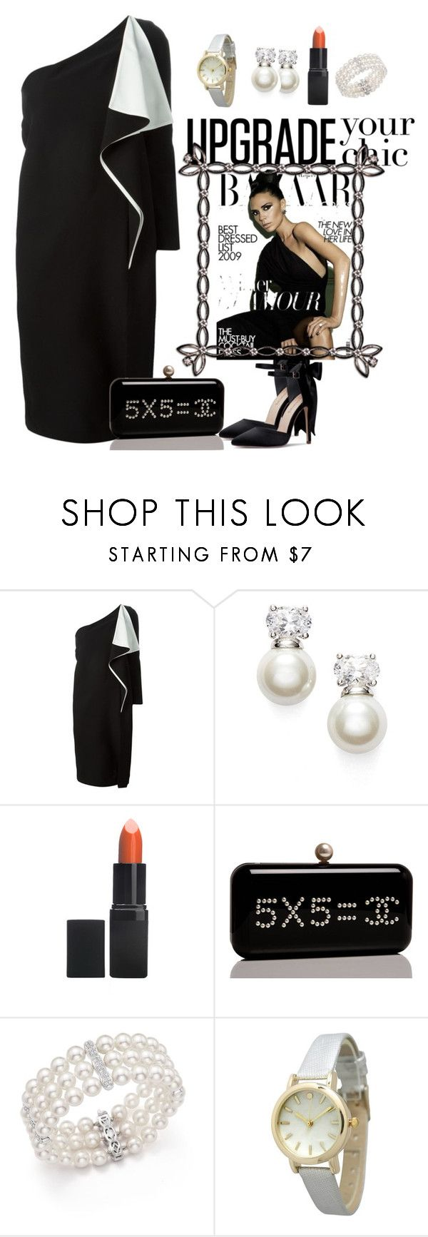 """""""Black and White Cocktail Dresses"""" by conley-esperanzaj1957 on Polyvore featuring Chloé, Judith Jack, Barry M, Chanel, Victoria Beckham, Bloomingdale's and Olivia Pratt"""