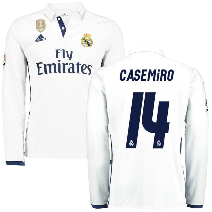 699a94654c1 ... official store casemiro real madrid adidas 201617 home fifa club world  cup champions patch replica long