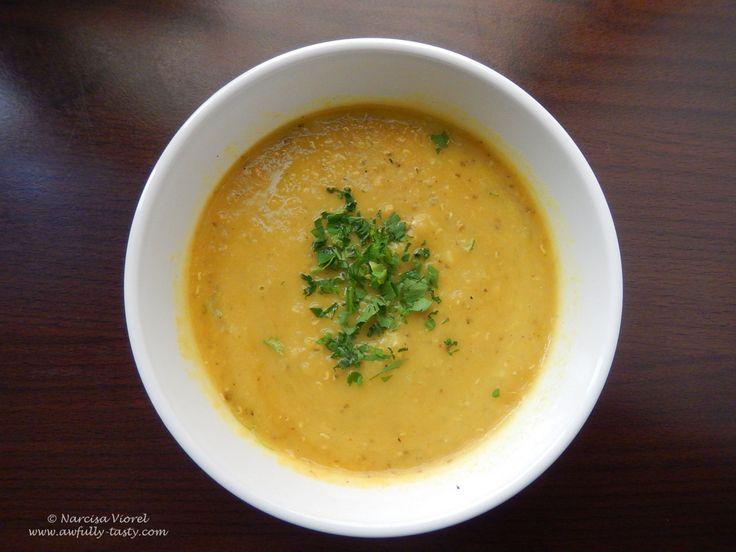 Supă de linte roșie - Lebanese Style