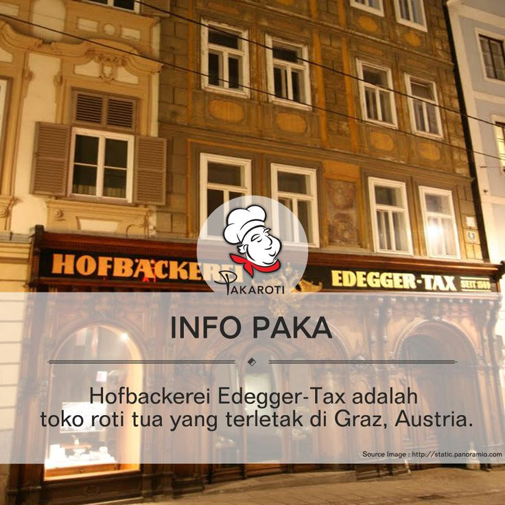 "Hofbackerei Edegger-Tax adalah toko roti tua yang terletak di Graz, Austria sejak 1880 yang telah menciptakan penganan lezat sejak abad ke-14. Indahnya ukiran, pintu kayu melengkung, dan etalase berhiaskan lambang kekaisaran Austro-Hungarian membuktikan usia dan popularitas toko yang juga merupakan ""pemasok ke Imperial dan Royal Court"".  Sissi Busserl merupakan salah satu produk andalan yang wajib dicoba ketika Anda mengunjungi toko kue ini. #InfoPaka"