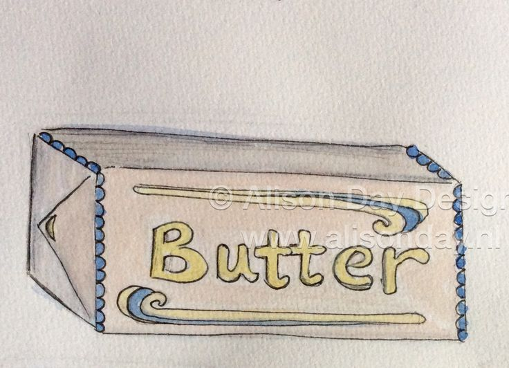 Food illustration - Butter by Alison Day