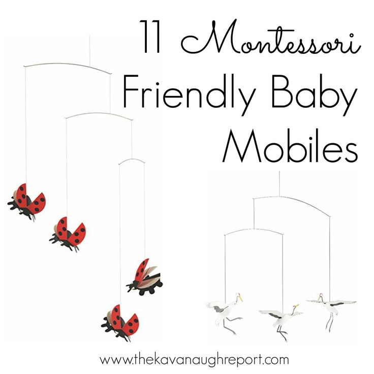 Montessori baby mobiles are perfect for infant development. Here are 11 Montessori friendly mobiles that can be used in addition to the traditional visual series.