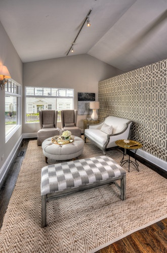 Den Design Ideas gray paneled office Small Den Design Pictures Remodel Decor And Ideas Page 7 Love This