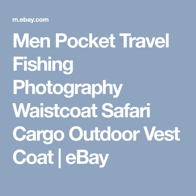 Men Pocket Travel Fishing Photography Waistcoat Safari Cargo Outdoor Vest Coat   eBay