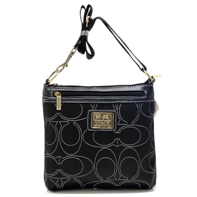 Coach poppy flower bag yelp coach swingpack in signature medium black crossbody bags aww mightylinksfo