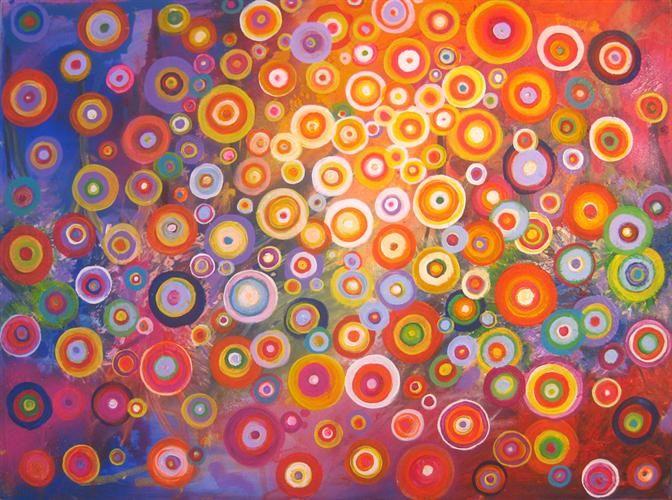 Rainbow circles -- art auction