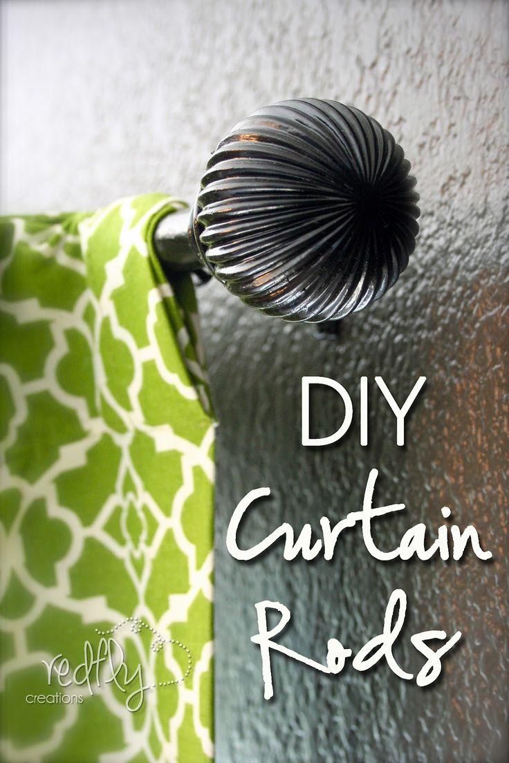 DIY Curtain Rods for under 5 dollars
