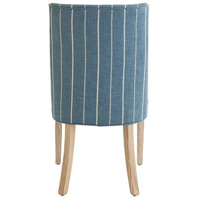 Corinne Blue Dining Chair with Espresso Wood