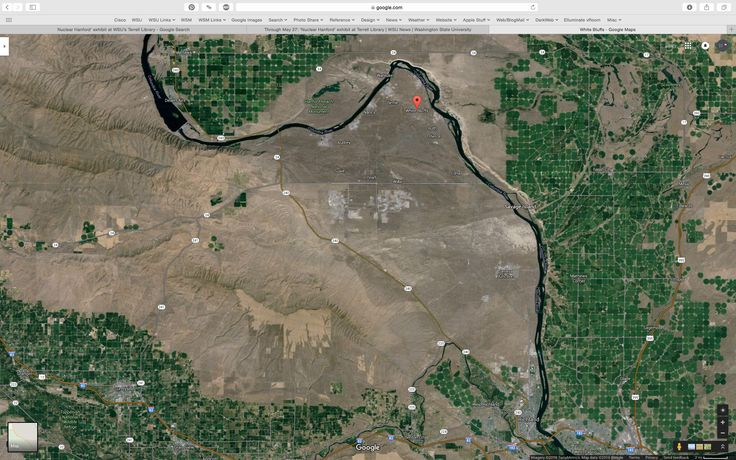 White Bluffs—recent Google Maps satellite photo