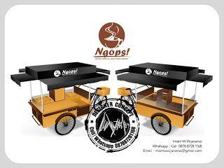 Desain Logo | Logo Kuliner |  Desain Gerobak | Jasa Desain dan Produksi Gerobak | Branding: Desain Gerobak Sepeda Kopi Ngops