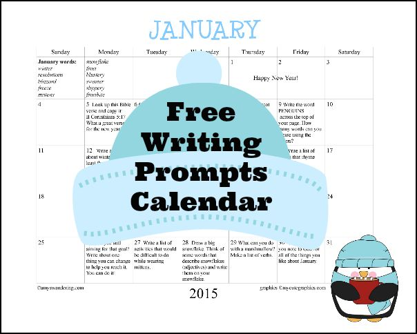 June Calendar Writing Prompts : Free january writing prompts calendar kid ger