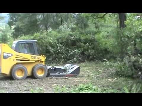 "CID Xtreme 60"" Brush Hog Cutter Mower For Bobcat Skid Steer Loader Attachment ! - YouTube"