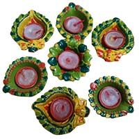 Set of 7 Diyas(Made by Tribal Children)