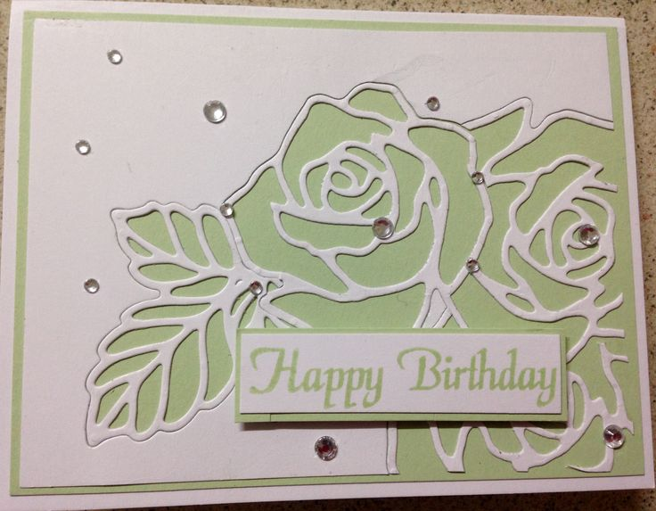 StampinUp Rose Garden Thinlits Die was used to create this from an idea on Lydia Evans Pinterest site.