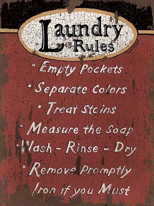 Laundry Rules (Linda Spivey)