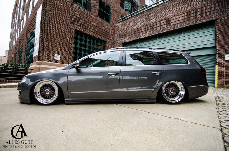 """Passat wagon on air with Rotiform'ed 18"""" BBS RS'"""