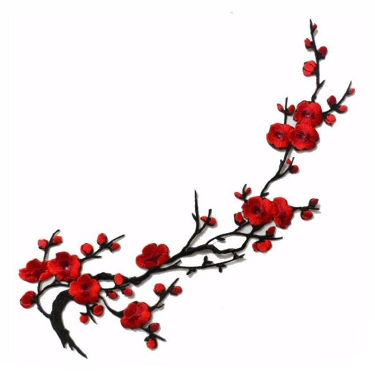 1Pcs Red Cherry Blossom
