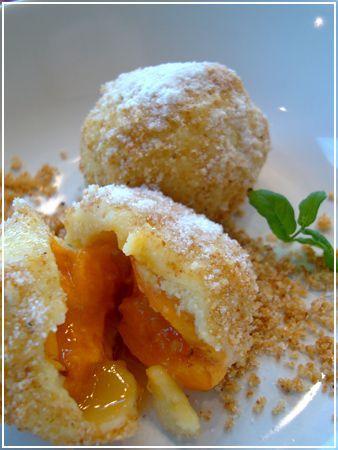 Authentic Weird Austrian Food: Marillenknödel, ,