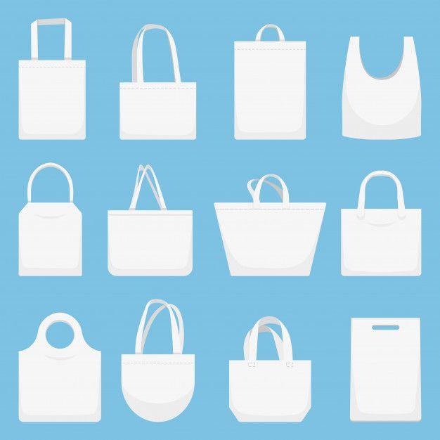 Download Fabric Bag Eco Canvas Bags White Shopping Bag Illustration Set Bag Illustration Canvas Bag Fabric Bag