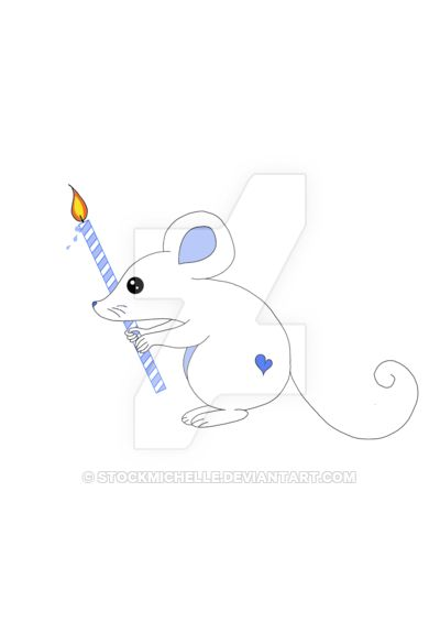 Cute  mouse with birthday candle by stockmichelle.deviantart.com on @DeviantArt