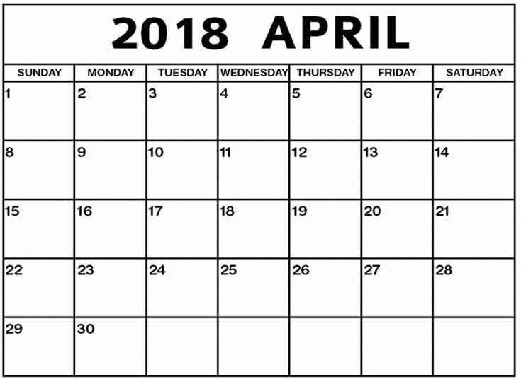 April Calendar 2018 Printable Template April 2018 Printable PDF Holidays Word 2018 April Calendar Excel PDF  https://sourcetemplate.com/april-2018-calendar.html