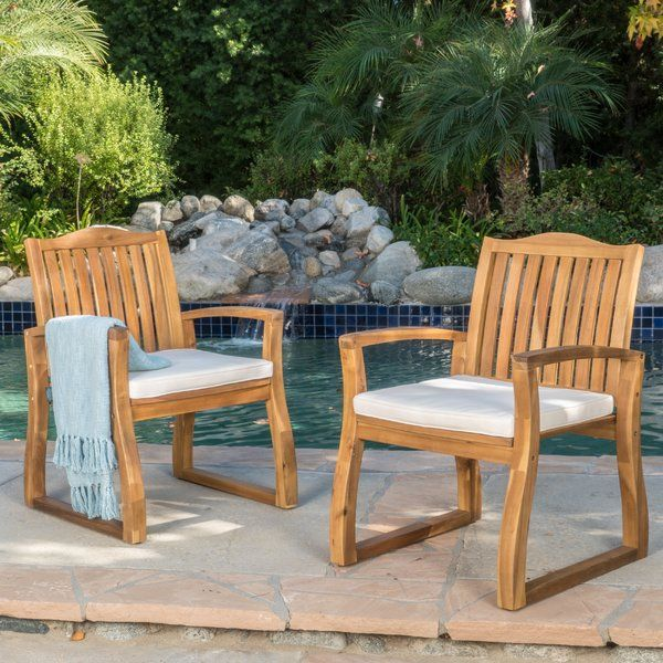 Enjoy Outdoor Dining And Relaxing With This Outdoor Dining Chairs.  Constructed With Durable Acacia Wood Part 55