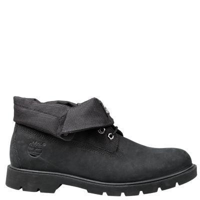 Men's Timberland Roll-Top Boots Black Nubuck #MensFashionBoots