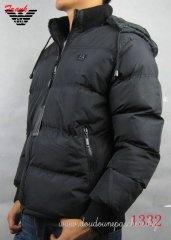 Doudoune Armani Coupe-vent Homme Chaud Noire