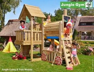 Wooden Climbing Frames for Children : New Jungle Gym Train Module