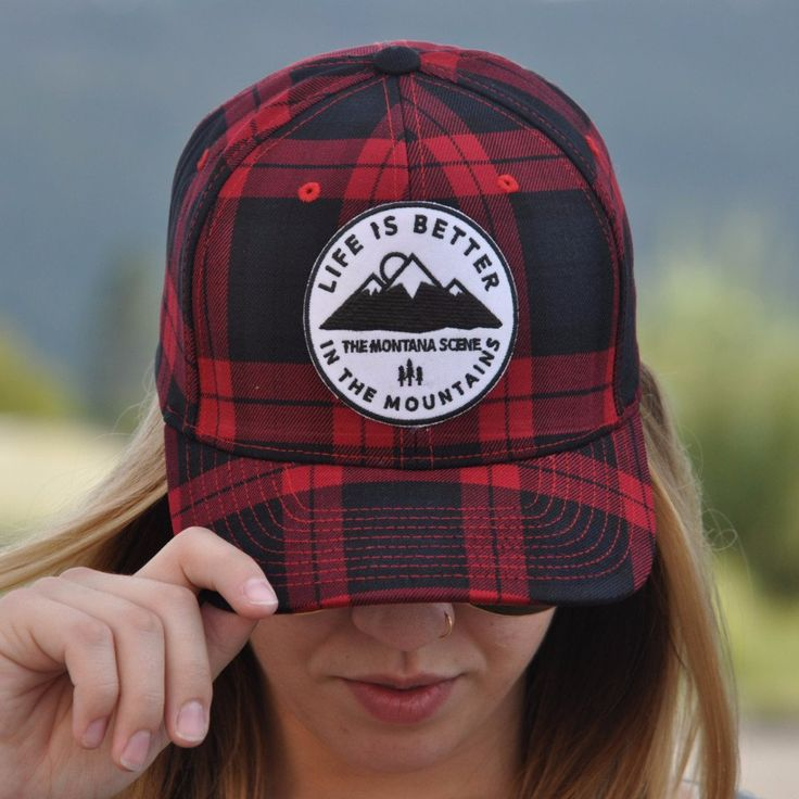 Life is better in the mountains. You will love this hip flexfit Montana hat.