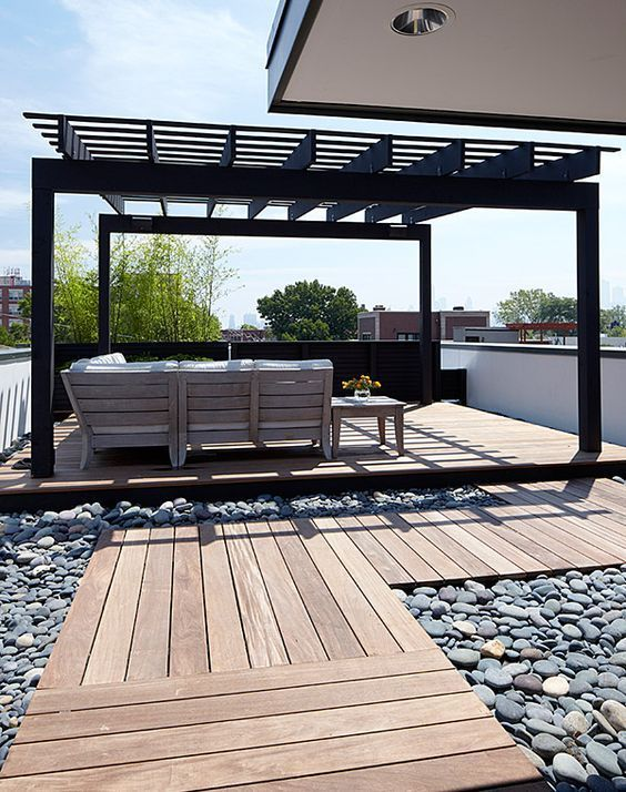 black roof deck pergola                                                                                                                                                     More