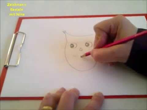 Zeichnen lernen für Anfänger und Kinder. Eule malen (sehr einfach) - YouTube