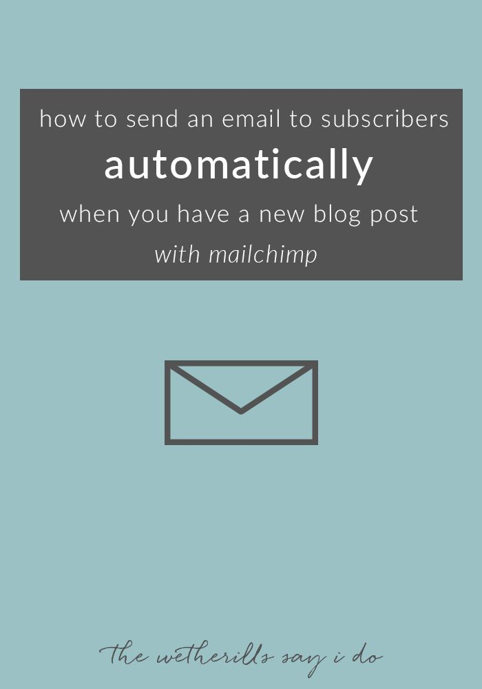 how to create an rss feed newsletter with mailchimp posts tutorials and your email. Black Bedroom Furniture Sets. Home Design Ideas