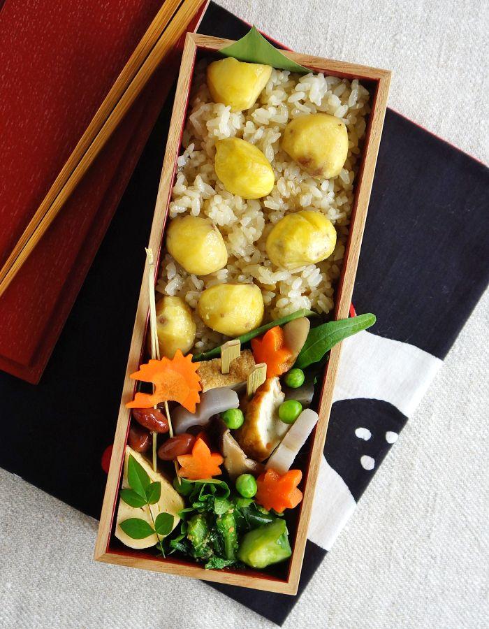 Cooked chestnut rice bento/栗ごはん弁当