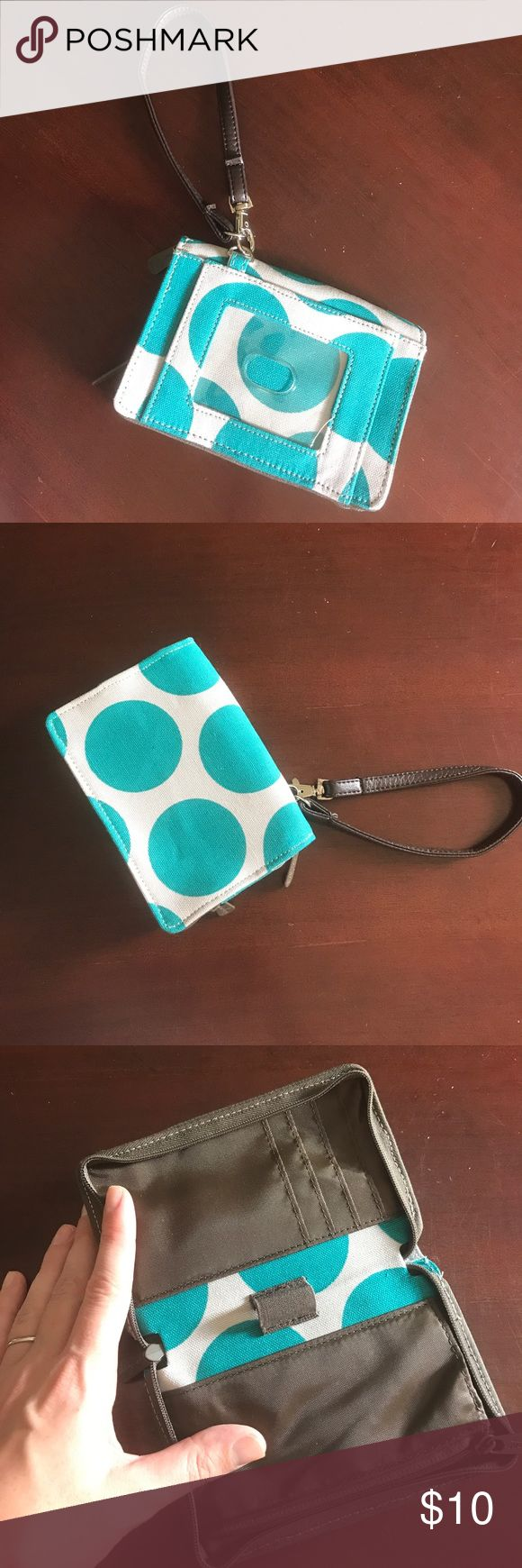 Thirty One wallet Thirty One Wallet. White & Teal. Never been used. Like new. Thirty One Bags Wallets