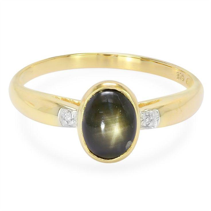 Gouden ring met een zwarte ster saffier - een echte aandachtstrekker. Alleen verkrijgbaar in de Juwelo webwinkel. Met certificaat van echtheid.