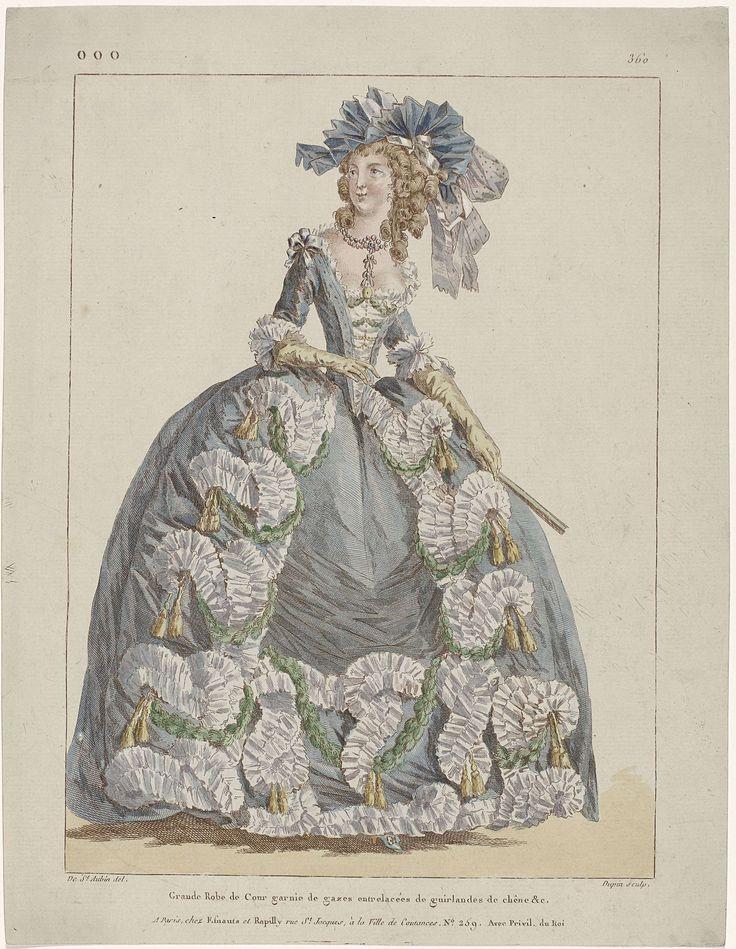 Gallerie des Modes et Costumes Français, 1787, ooo 360 : Grande Robe de Cour..., Nicolas Dupin, 1787