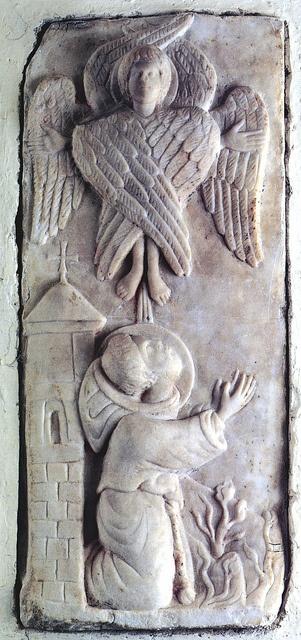 Rilievo con il miracolo delle Stimmate di San Francesco. Santuario della Verna, cappella delle Stimmate by renzodionigi, via Flickr