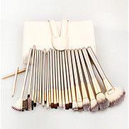 24+Brush+Sets+Synthetisch+haar+Reizen+/+Beugel+/+Milieuvriendelijk+/+Draagbaar+/+Professioneel+Hout+Gezicht+/+Oog+/+Lip+Overige+–+EUR+€+27.43