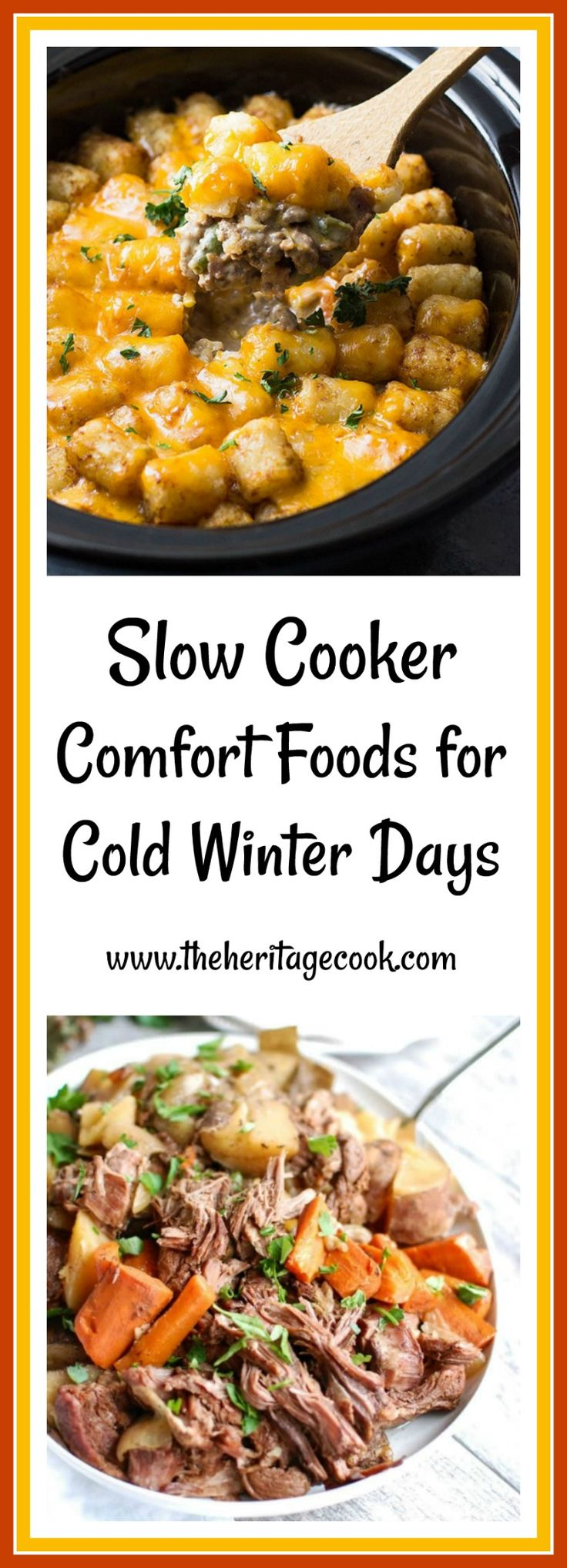 From soups that are perfect for lunch or as a starter for dinner, to full blown main courses, you will find lots of tantalizing recipes your family will love in today's post. Thanks so much for sharing and visiting The Heritage Cook! #comfortfood #slowcooker #crockpot