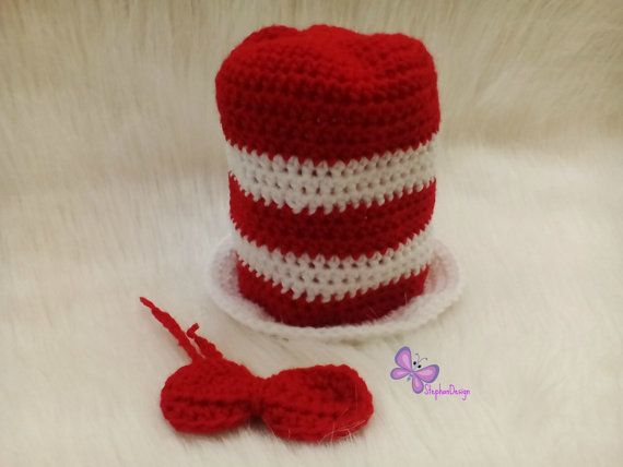 cat in the hat Dr Seuss Cat in the hat  Hat & Bow by StephanDesign