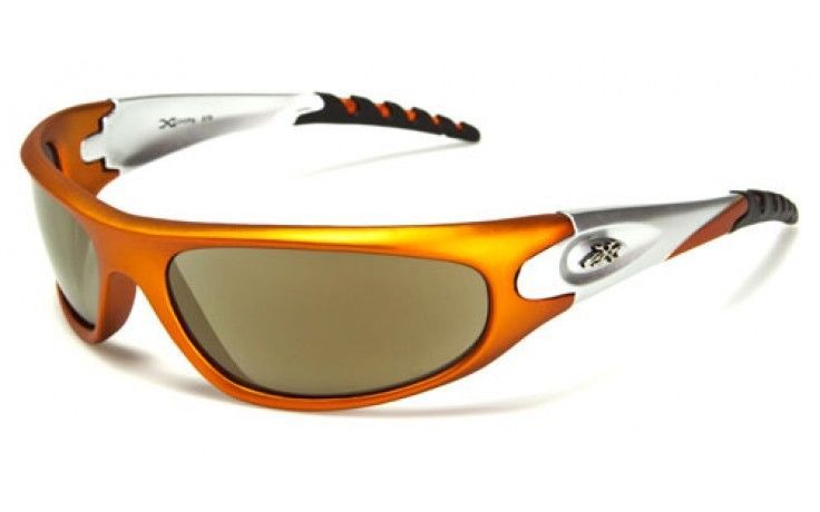 mirrored sport sunglasses  Orange XLOOP Mirrored Sunglasses