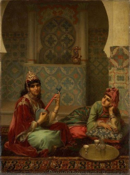 Le café, intérieur arabe à Tlemcen Gaston Casimir Saint-Pierre , French, 1833-1916