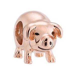3474119 - Chamilia Silver & Rose Gold Plated Pigg…